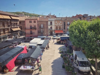 Blick vom Hostel Monaco