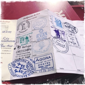 Meine Pilgerausweis
