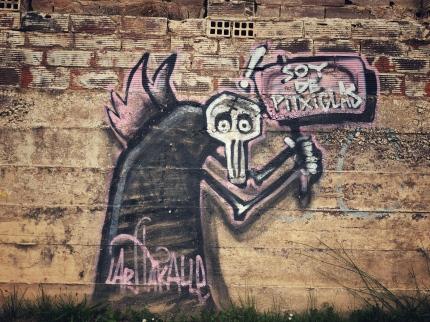 Strassenkunst in Logroño