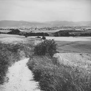 Blick zurück auf Pamplona
