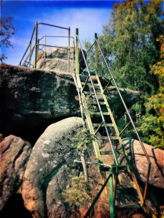 klettern für den Ausblick